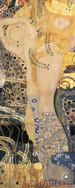 Water Serpents I painting - Gustav Klimt Water Serpents I Art Print