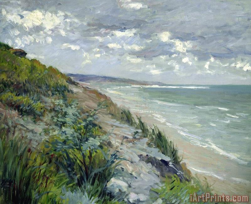 Gustave Caillebotte Cliffs by the sea at Trouville Art Print