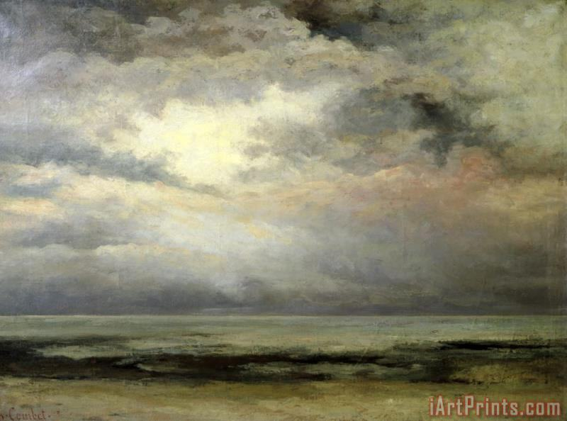 Immensity painting - Gustave Courbet Immensity Art Print
