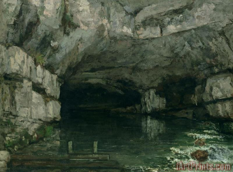 The Grotto of the Loue painting - Gustave Courbet The Grotto of the Loue Art Print
