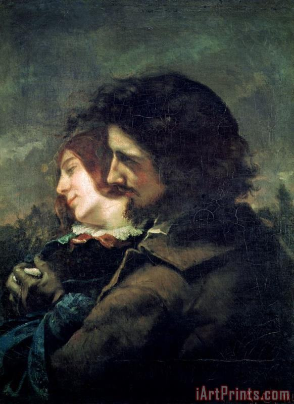 Gustave Courbet The Happy Lovers Art Print