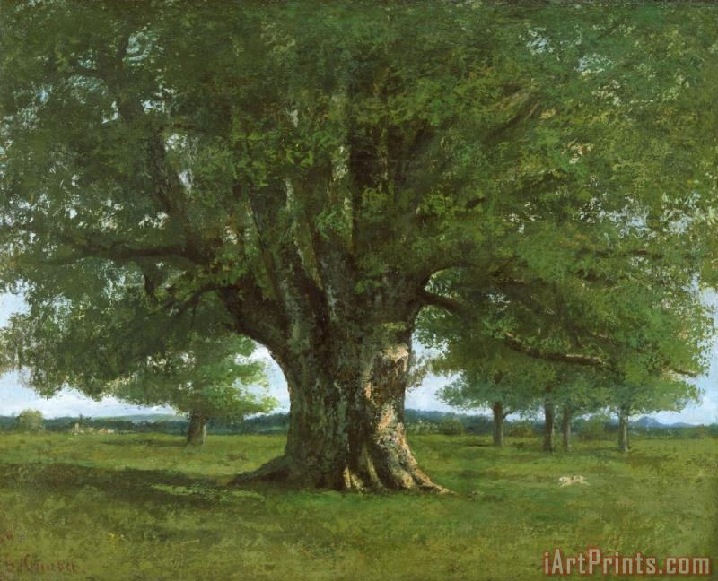 Gustave Courbet The Oak of Flagey Art Painting