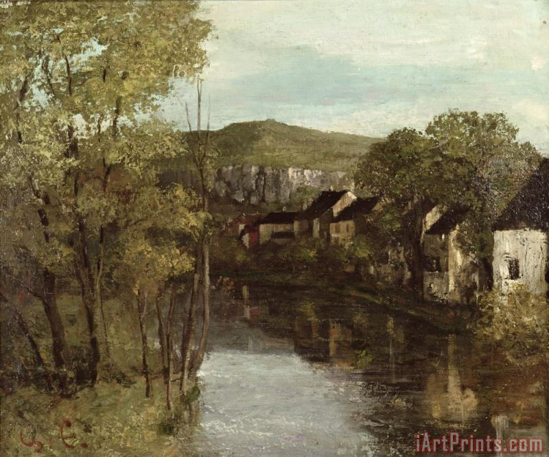 The Reflection of Ornans painting - Gustave Courbet The Reflection of Ornans Art Print