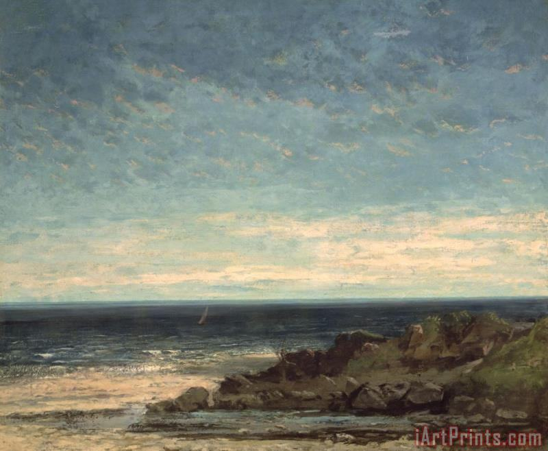Gustave Courbet The Sea Art Print