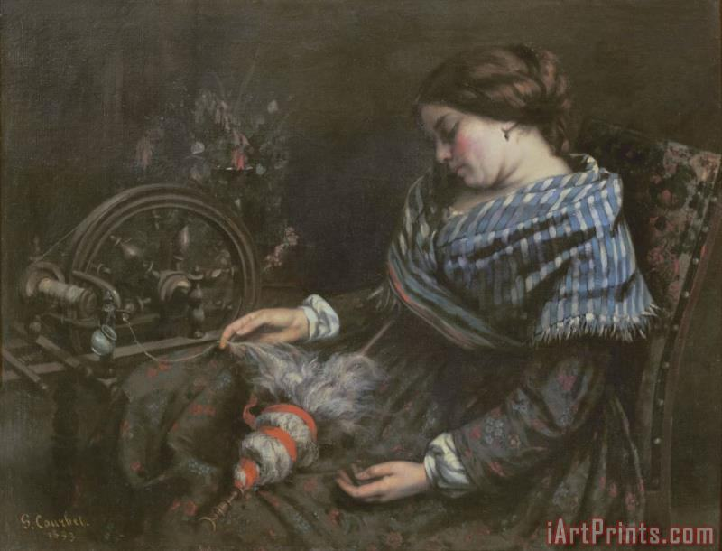 Gustave Courbet The Sleeping Embroiderer Art Print