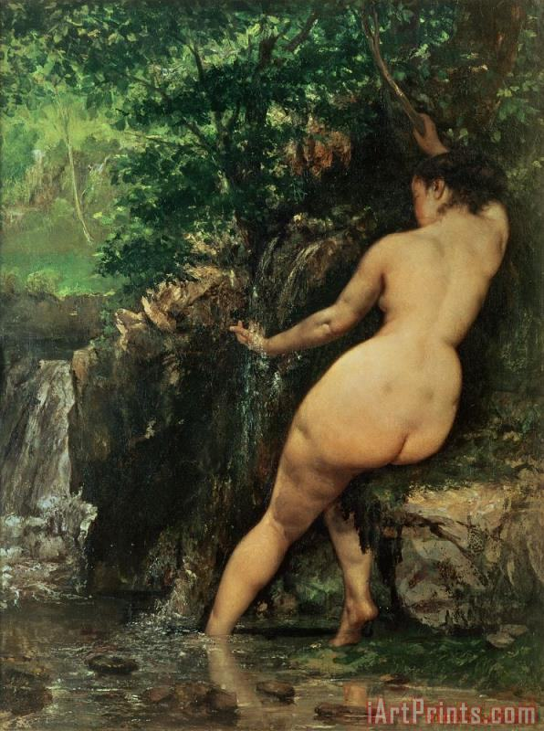 Gustave Courbet The Source or Bather at the Source Art Print