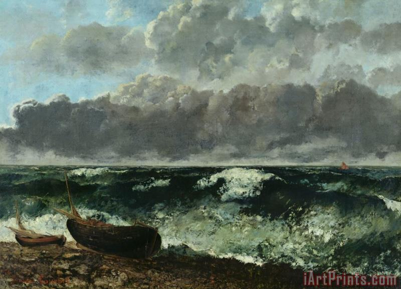 Gustave Courbet The Stormy Sea Art Print
