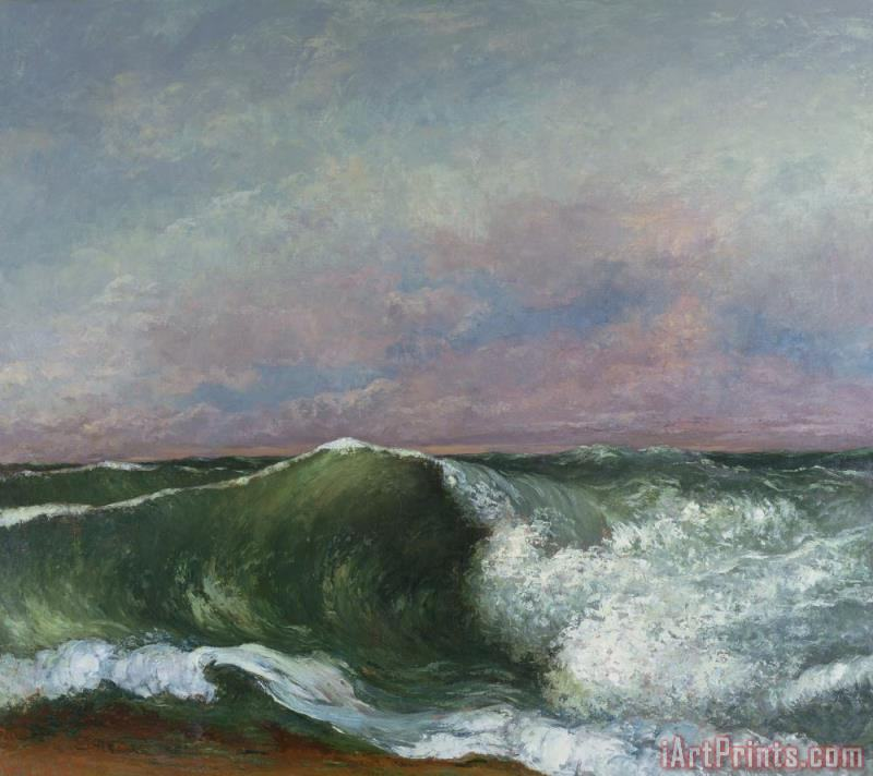 The Wave painting - Gustave Courbet The Wave Art Print