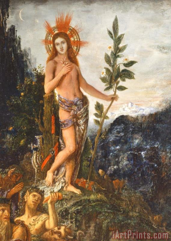 Gustave Moreau Apollo Receiving The Shepherds Offerings Art Print