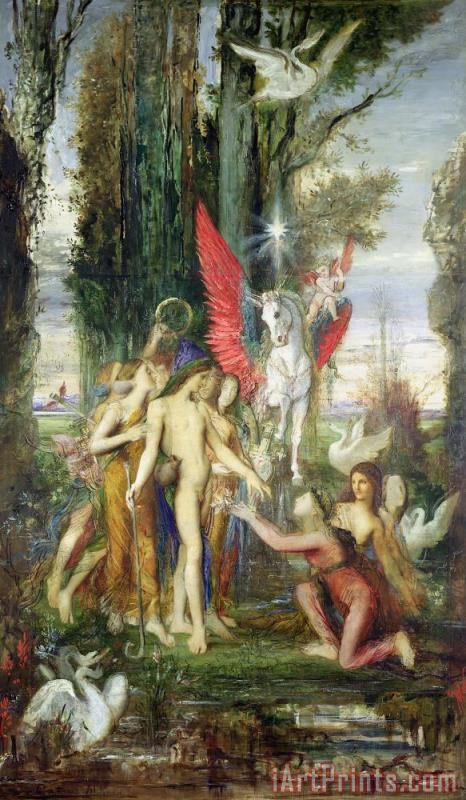 Hesiod And The Muses painting - Gustave Moreau Hesiod And The Muses Art Print
