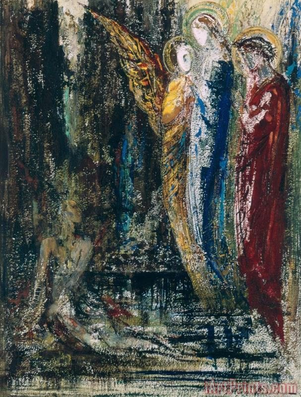 Job And The Angels painting - Gustave Moreau Job And The Angels Art Print