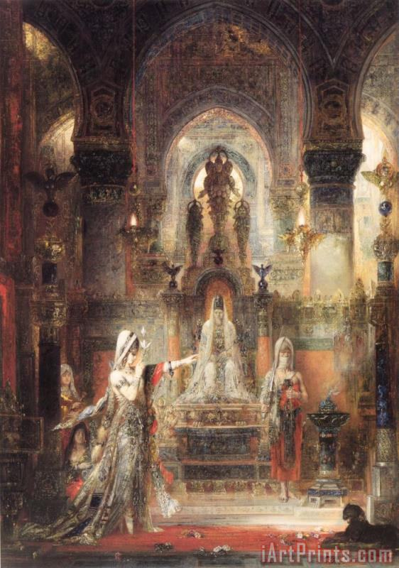 Salome Dancing Before Herod painting - Gustave Moreau Salome Dancing Before Herod Art Print