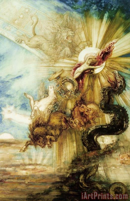The Fall Of Phaethon painting - Gustave Moreau The Fall Of Phaethon Art Print