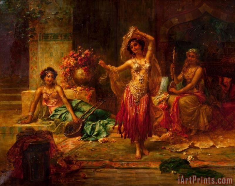 Harem Entertainers painting - Hans Zatzka Harem Entertainers Art Print