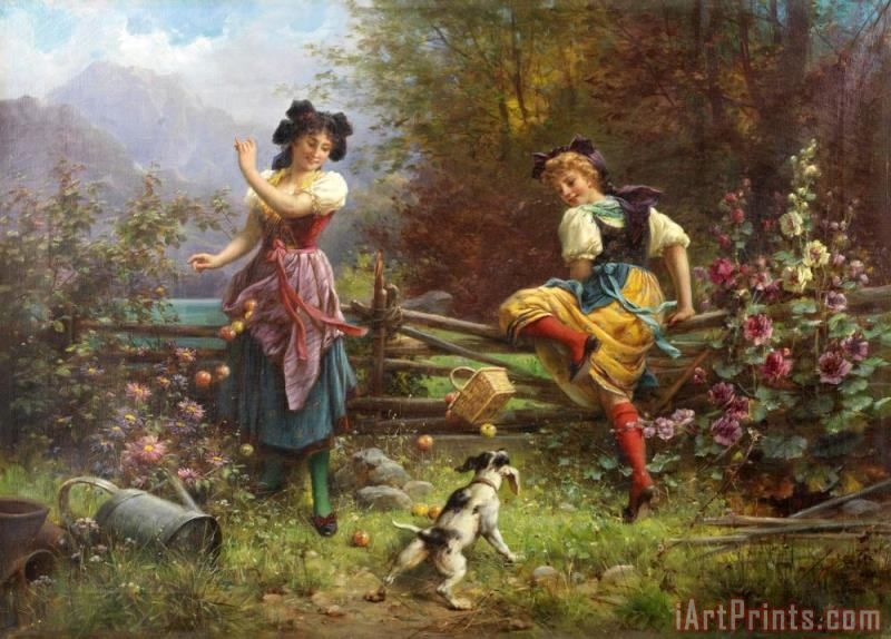 Hans Zatzka Jealous Girlfriend Art Painting