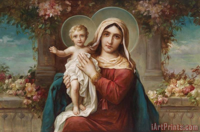 Hans Zatzka Madonna And Child 2 Art Print