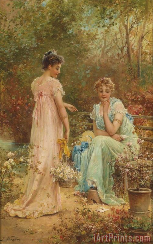 Surprised painting - Hans Zatzka Surprised Art Print