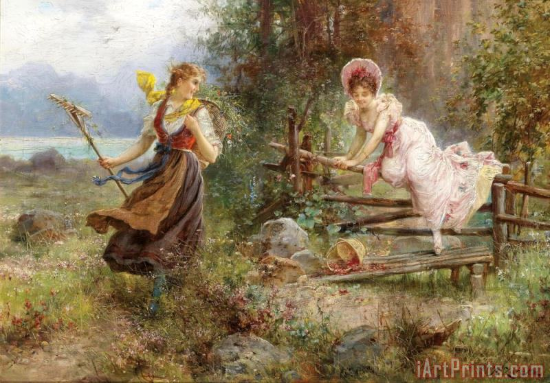 Hans Zatzka The Berry Picker Art Print