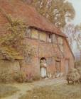 The Cottage with Beehives by Helen Allingham