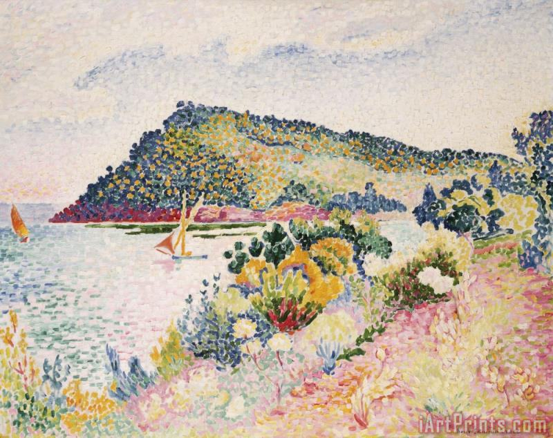 The Black Cape Pramousquier Bay painting - Henri-Edmond Cross The Black Cape Pramousquier Bay Art Print