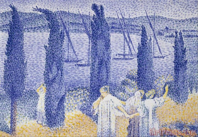 The Promenade painting - Henri-Edmond Cross The Promenade Art Print