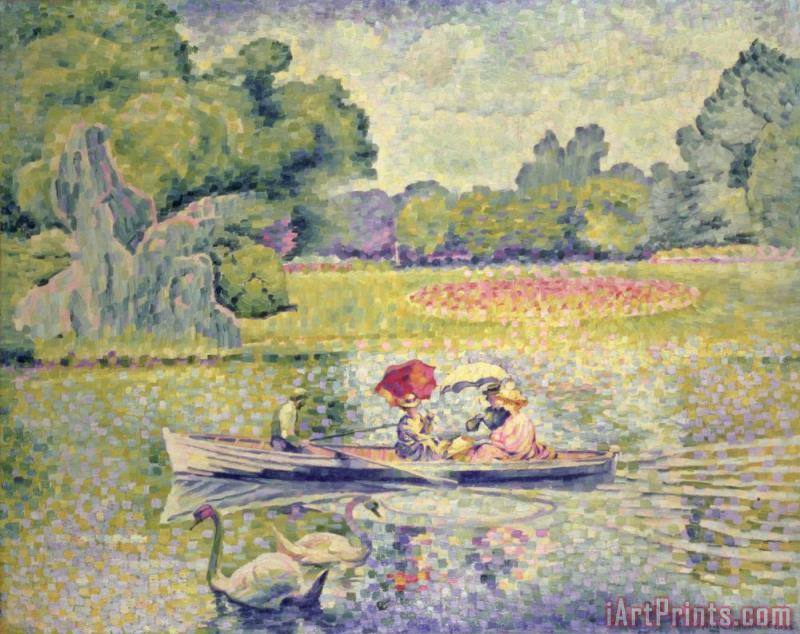The Promenade in the Bois de Boulogne painting - Henri-Edmond Cross The Promenade in the Bois de Boulogne Art Print