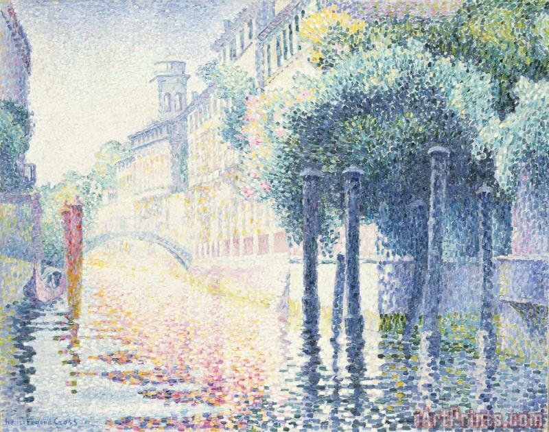 Venice painting - Henri-Edmond Cross Venice Art Print