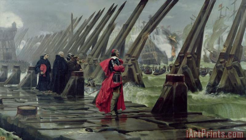 Richelieu painting - Henri-Paul Motte Richelieu Art Print