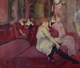 In the Salon at the Rue des Moulins by Henri de Toulouse-Lautrec