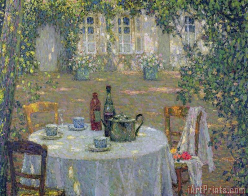 The Table in the Sun in the Garden painting - Henri Le Sidaner The Table in the Sun in the Garden Art Print