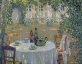 The Table in the Sun in the Garden by Henri Le Sidaner