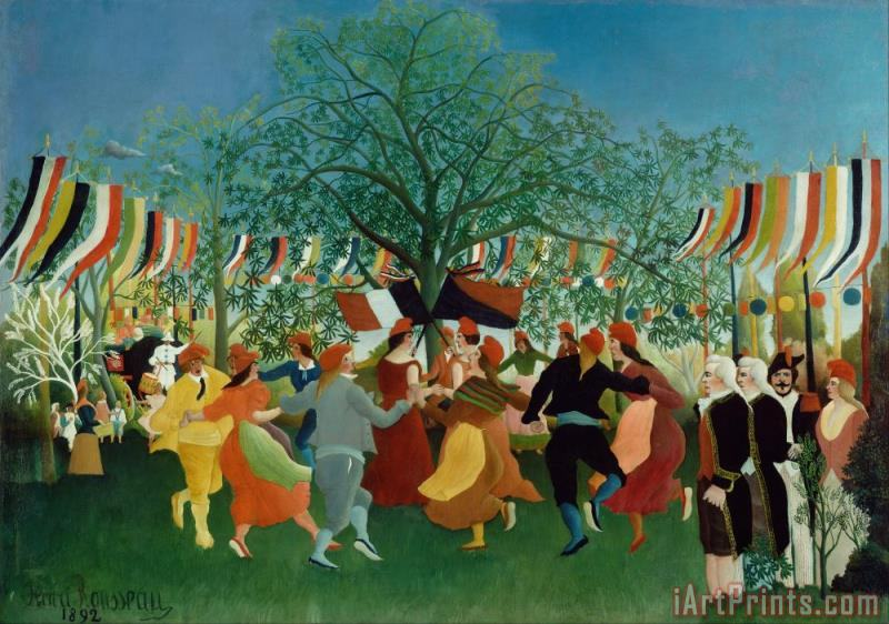 A Centennial of Independence painting - Henri Rousseau A Centennial of Independence Art Print