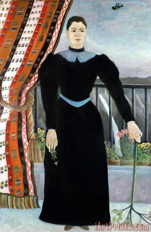Henri Rousseau Portrait of a Woman Art Print