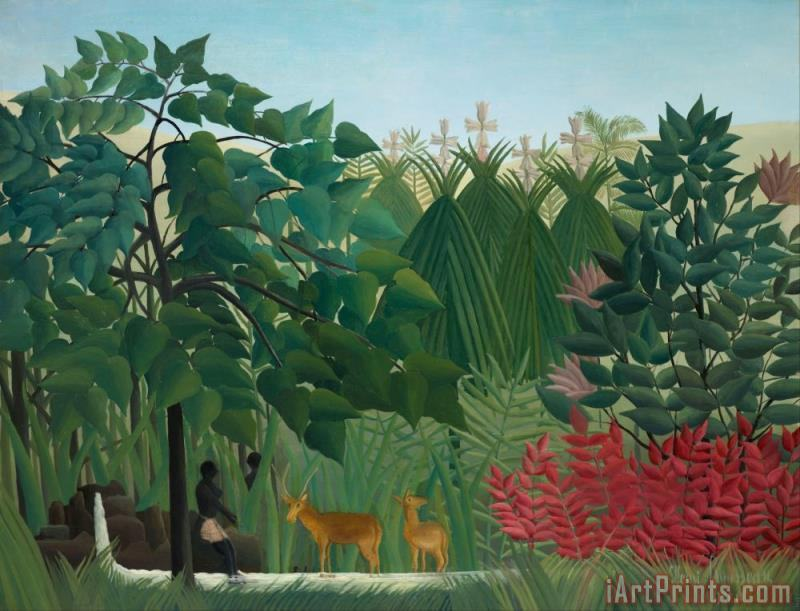 The Waterfall painting - Henri Rousseau The Waterfall Art Print