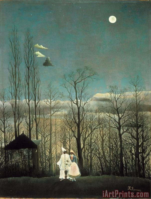 A Carnival Evening painting - Henri Rousseau A Carnival Evening Art Print