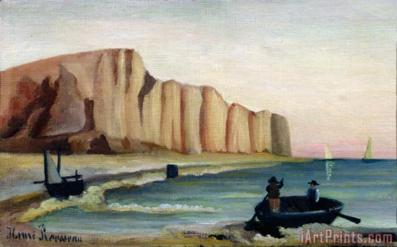 Henri Rousseau Cliffs Art Print