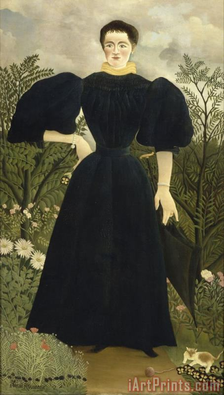 Portrait of Madame M; painting - Henri Rousseau Portrait of Madame M; Art Print