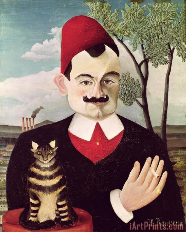 Portrait of Pierre Loti painting - Henri Rousseau Portrait of Pierre Loti Art Print