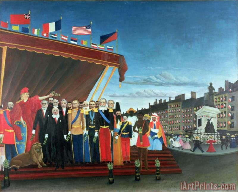 Henri Rousseau Representatives of the Forces greeting the Republic as a Sign of Peace Art Print