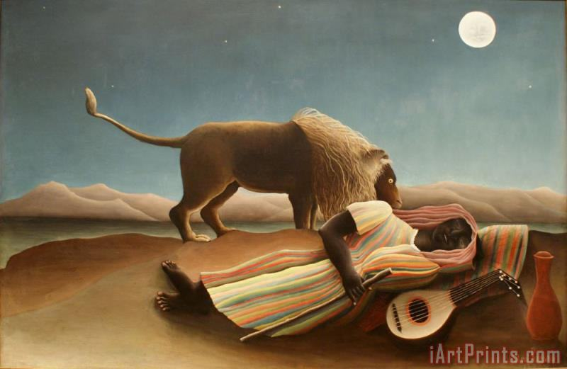 The Sleeping Gypsy II painting - Henri Rousseau The Sleeping Gypsy II Art Print