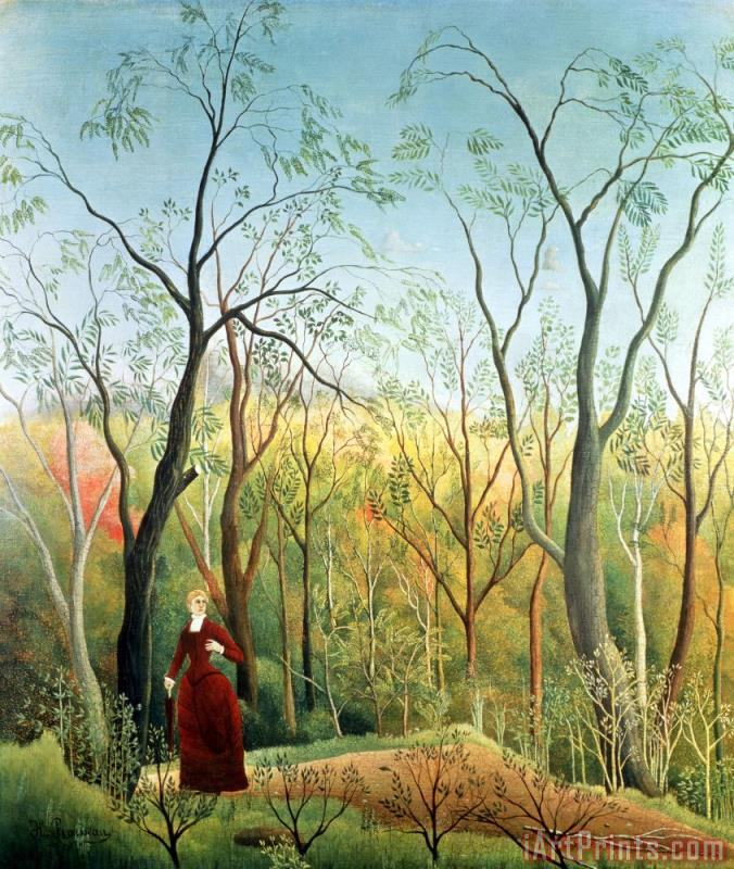 Henri Rousseau The Walk in the Forest Art Print