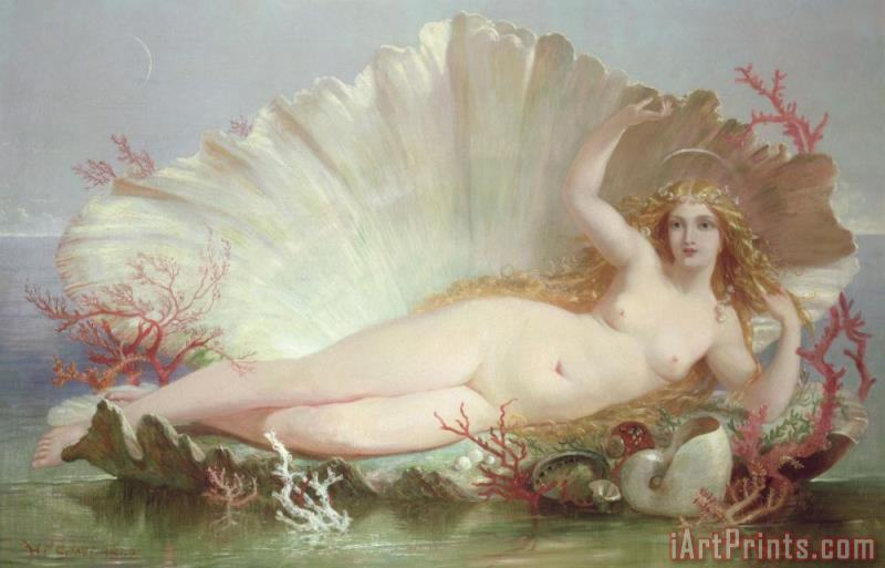 Venus painting - Henry Courtney Selous Venus Art Print