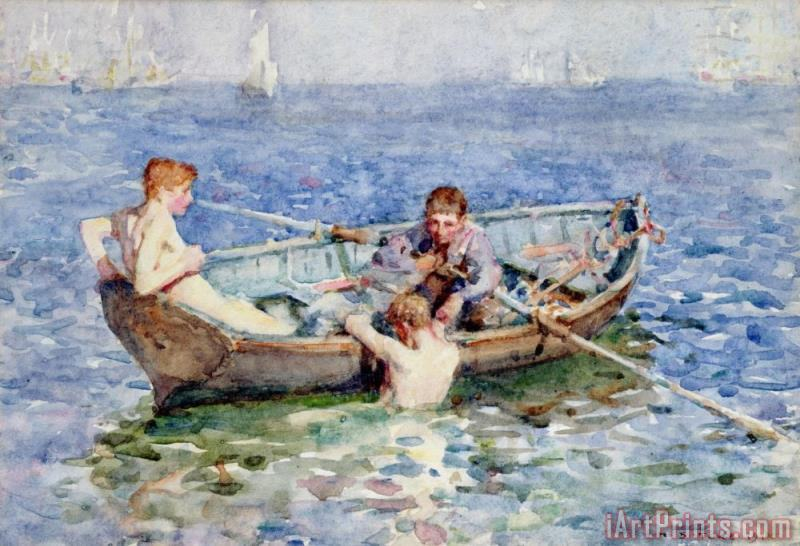 Henry Scott Tuke August Blue Art Print