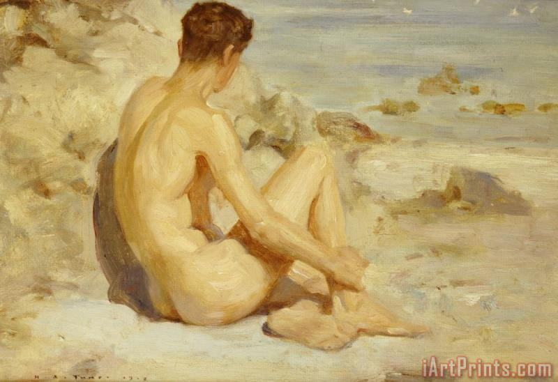 Boy on a Beach painting - Henry Scott Tuke Boy on a Beach Art Print