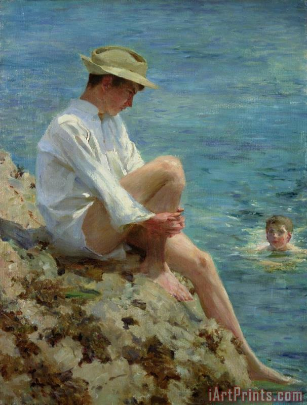 Henry Scott Tuke Boys Bathing Art Print