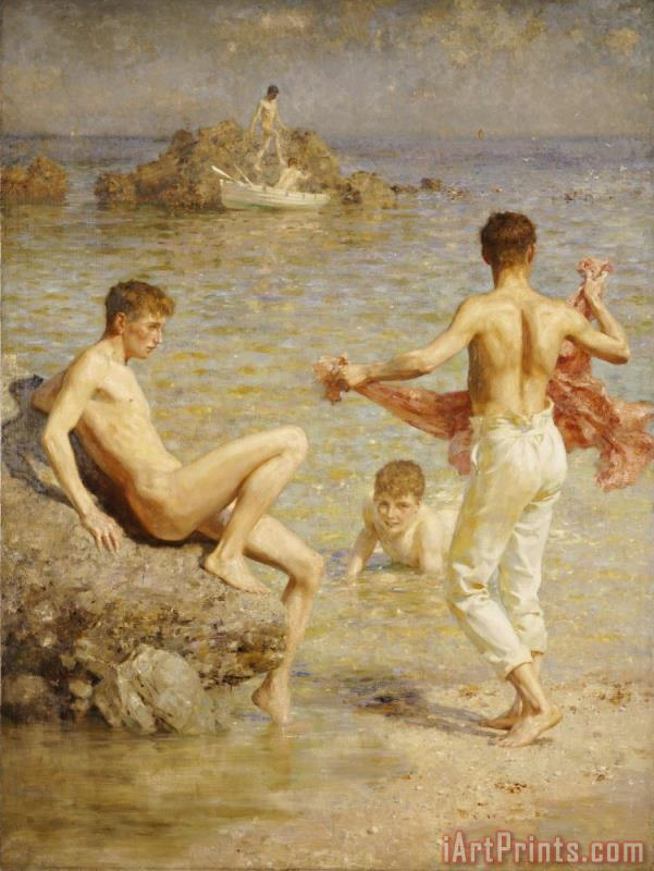 Gleaming Waters painting - Henry Scott Tuke Gleaming Waters Art Print