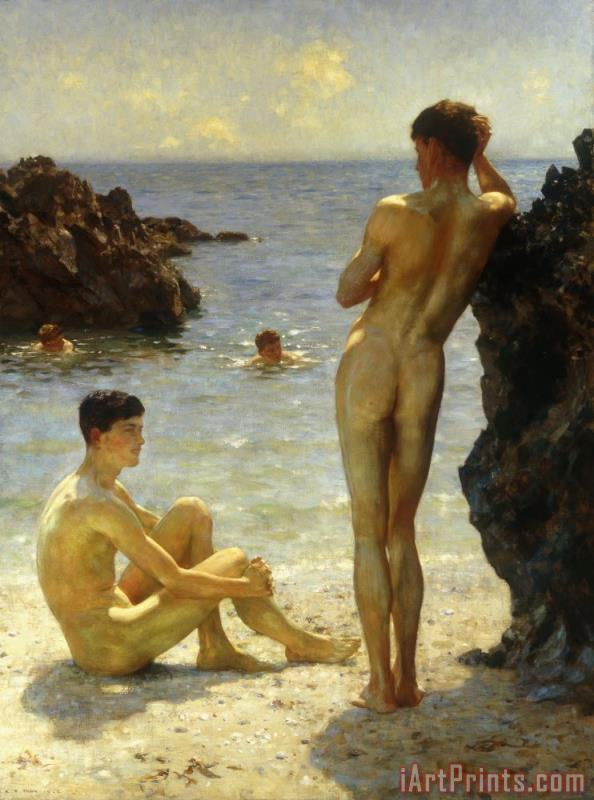 Henry Scott Tuke Lovers of the Sun Art Print
