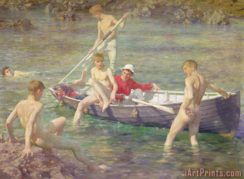 Henry Scott Tuke Ruby Gold and Malachite Art Print