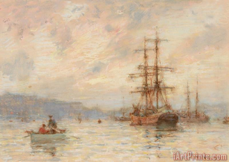 Henry Scott Tuke Sundown Art Print