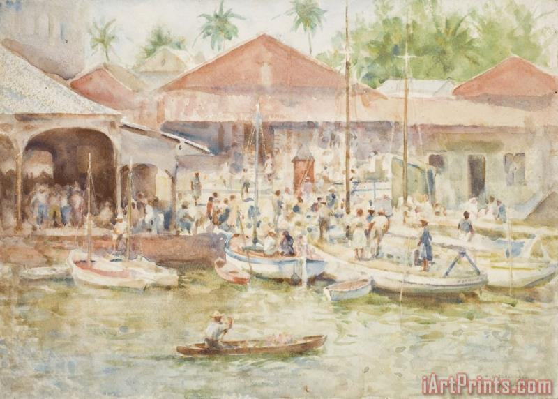 The Market Belize British Honduras painting - Henry Scott Tuke The Market Belize British Honduras Art Print